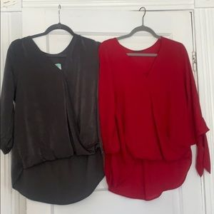 Quarter sleeve blouses